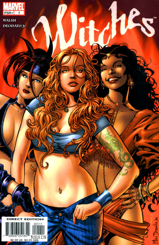 Witches, published by Marvel Comics in 2004. Plotted by Bronwyn Carlton, with scripts by Brian Walsh, it featured art by Mike Deodato and Will Conrad.