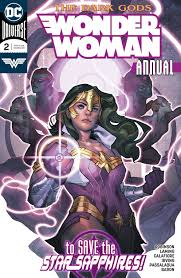 Wonder Woman with a Star Sapphire ring and costume