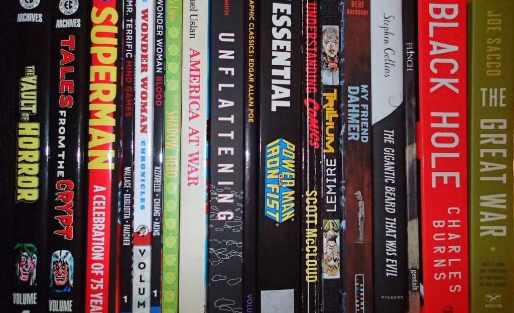 Comic book syllabus shelfie