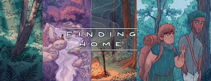 Finding Home banner. Finding Home, Hari Conner, 2018.