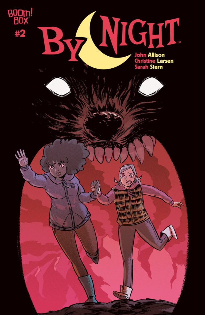 By Night #2 Publisher: BOOM! Box, an imprint of BOOM! Studios Writer: John Allison Artist: Christine Larsen Cover Artist: Main Cover: Christine Larsen