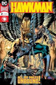 Hawkman looming at the reader