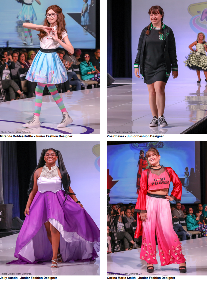 Her Universe Fashion Show 2018 Junior Designers (Photo by Mark Edwards)