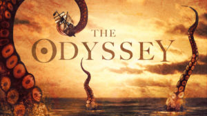 Stylized title card for Homer's The Odyssey