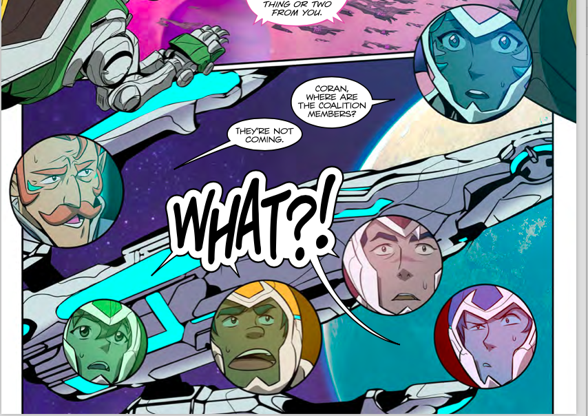 Voltron: Legendary Defender Volume 3 #1 panels