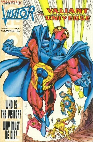 The Visitor vs the Valiant Universe #1, Valiant Comics, 1995, Written by Kevin Van Hook Pencils Bryan Hitch Inks Dick Giordano Colored by Stu Suchit