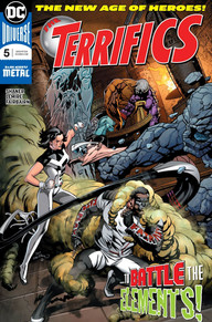 The Terrifics fighting elemental monsters