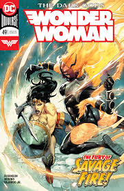Wonder Woman fighting the Dark Gods