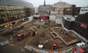 Cologne dig site for the oldest public library in Germany