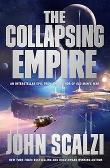 Cover of The Collapsing Empire by John Scalzi.