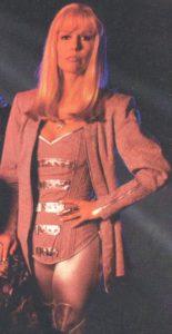 Finola Hughs as Emma Frost in a nice pantsuit