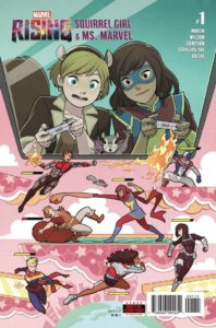 Ms. Marvel and Squirrel Girl play themselves in an arcade game