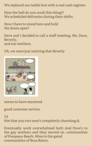Screenshot of awkward Kindle mobile formatting