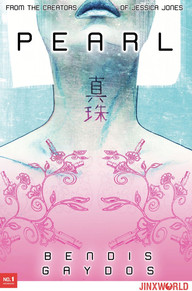 A very intricate neck and shoulder tattoo in pastels