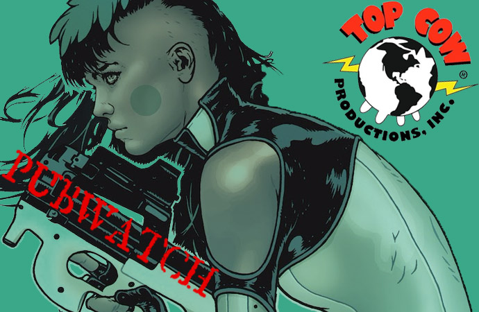 Top Cow Pubwatch - Banner designed by Cori McCreery (Aphrodite V and logo copyright Top Cow Productions)