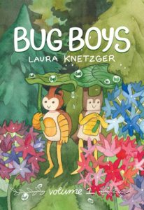 The Bug Boys cover, on which Stag B and Rhino B hold up leaves to keep away the rain.