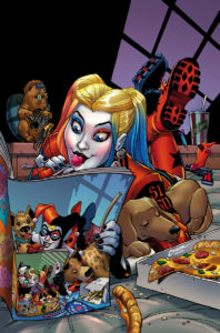 Harley reading Harley Quinn #50