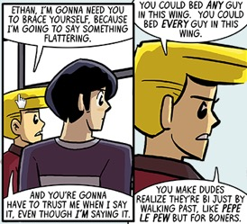 two panels of discussion from Dumbing of Age