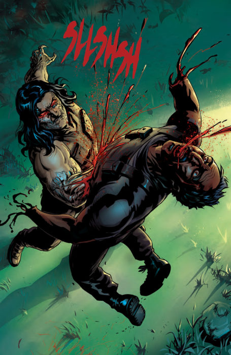 Ripclaw tears apart a henchmen in Cyber Force #5