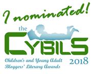 Cybils, I nominated badge, 2018