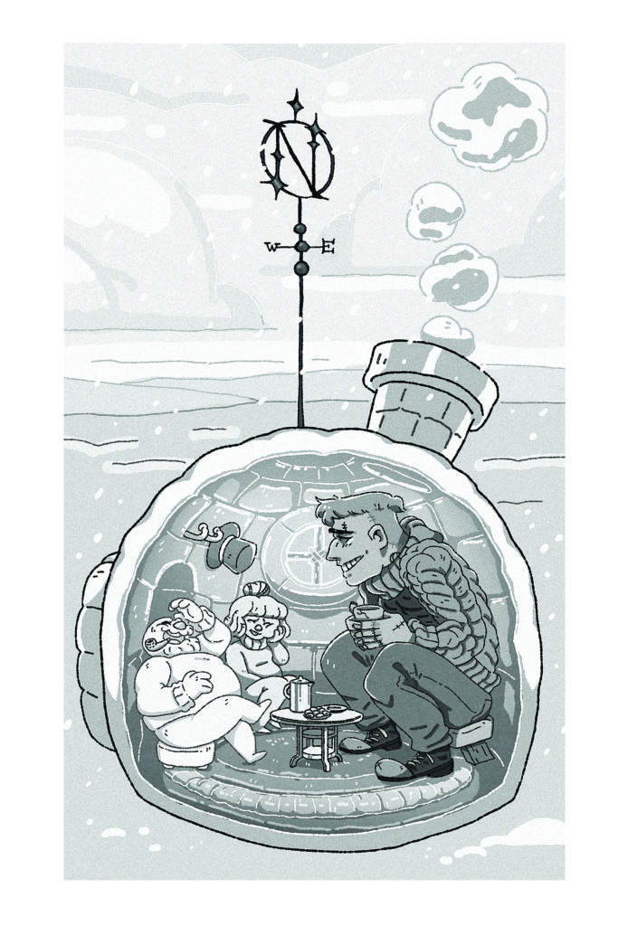 """""""Frank and Frosty,"""" by Saffron Aurora, Called Into Being zine"""