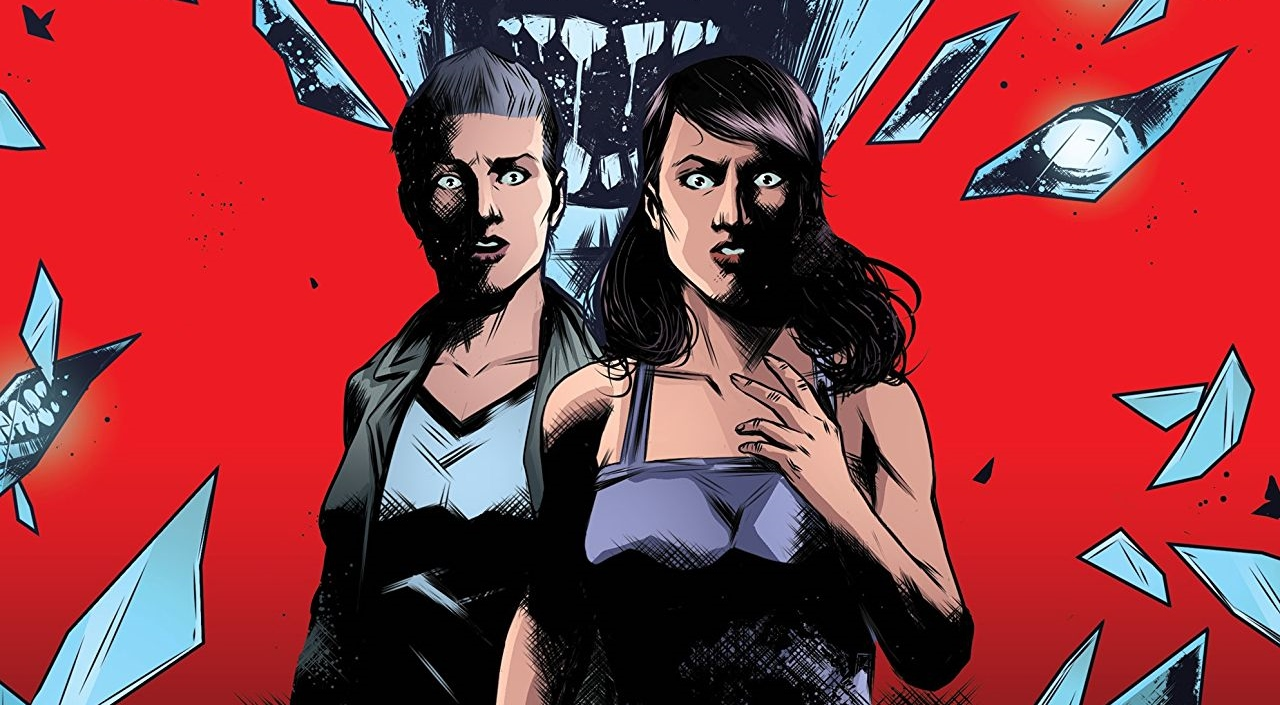 Sam and Michelle stare in horror as a ghostly face bares down on them in The Devil Within #1 Cover A. Written by Stephanie Phillips and drawn by Maan House. Published by Black Mask Studios. 10 October, 2018