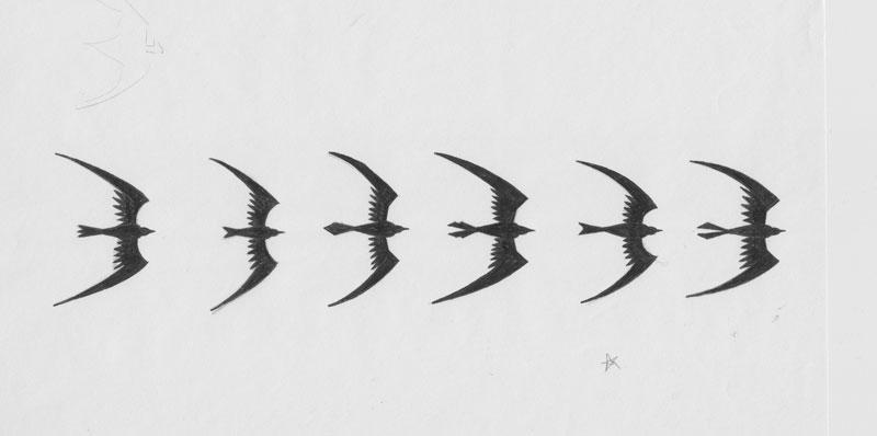 JayJay Jackson's Harbinger logo drafts, from JimShooter.com