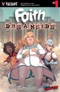 Faith:Dreamside cover by Becca Farrow, NYCC exclusive, Valiant Comics, October 2018