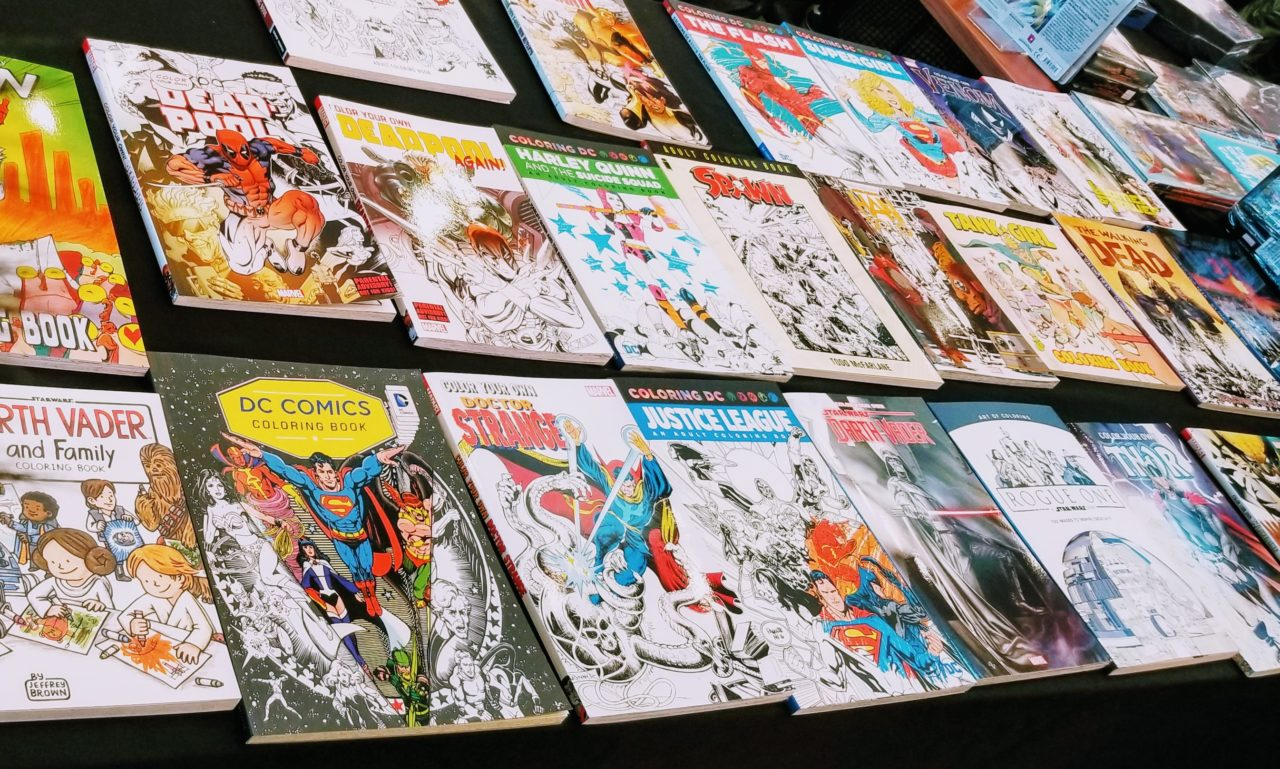 Colouring display for Comic Book Addiction
