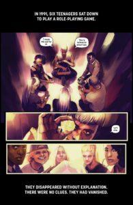 DIE #1 art by Stephanie Hans, story by Kieron Gillen (Image Comics, December 2018)