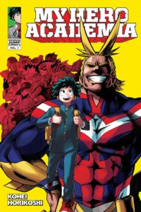 The Vol. 1 cover of the Viz English-language publication of My Hero Academia.