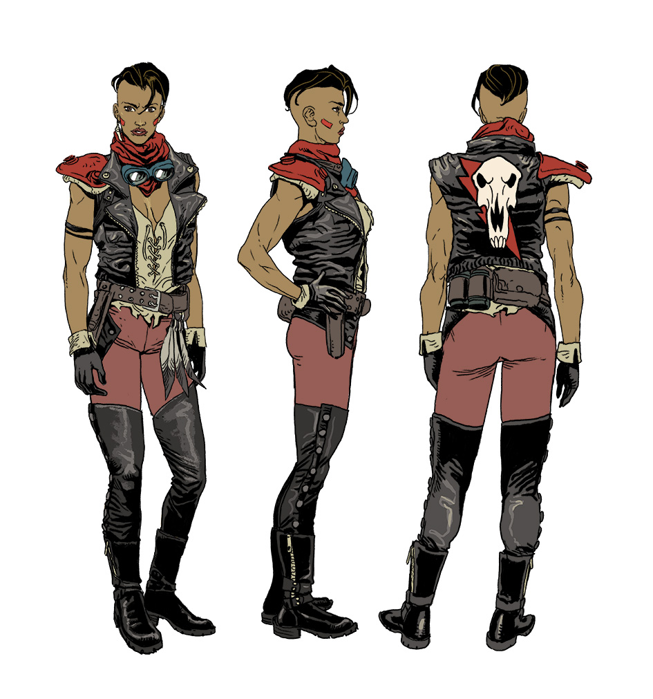 Amilcar Pinna's character designs for War-MOnger in Valiant's THE FORGOTTEN QUEEN