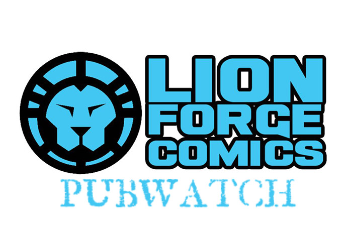 Lion Forge Pubwatch - banner designed by Cori McCreery