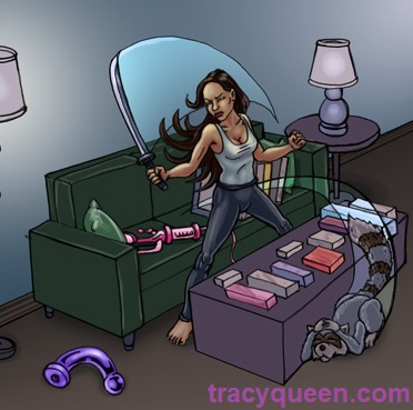 Tracy Queen ready for action
