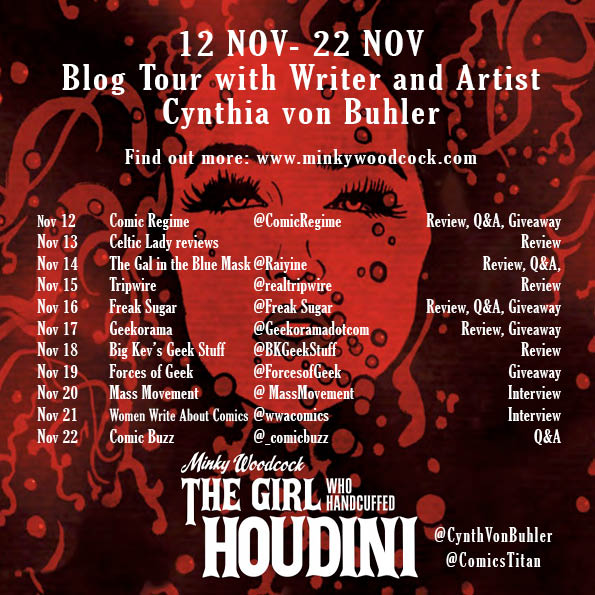 Minky Woodcock: The Girl Who Handcuffed Houdini (Titan Comics, 2018) Blog Tour