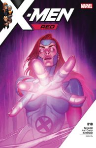 Cover for X-Men Red - Jean Grey, eyes white, reaches towards the viewer
