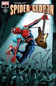 A punk rock Spider-Man rocks out in Welcome to Spider-geddon (Marvel comics, 2018)