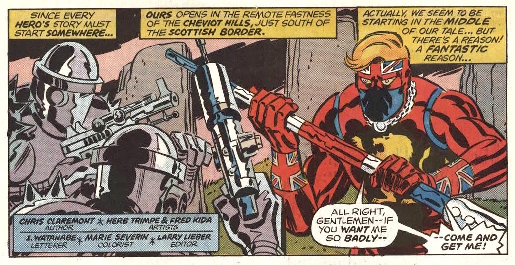 Captain Britain magazine #1, Marvel UK, Marvel Comics, cover drawn by Herb Trimpe