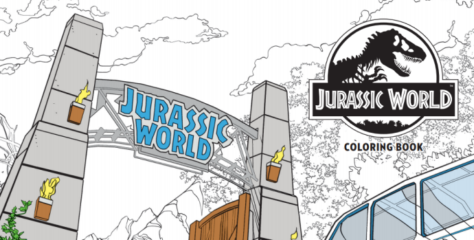 Take a Bite Out of The Jurassic World Coloring Book