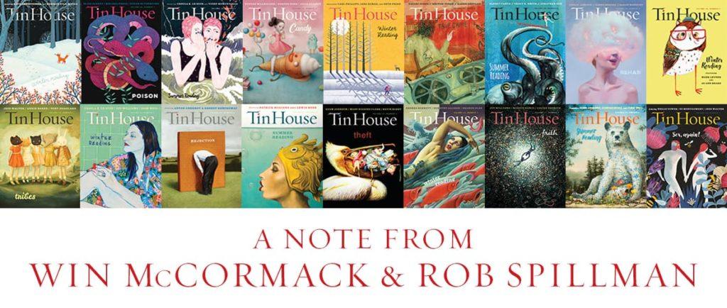 Tin House Magazine covers