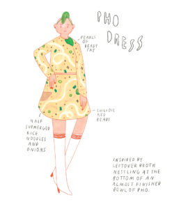 Pho Dress from Fashion Forecasts by Yumi Sakugawa image via Retrofit