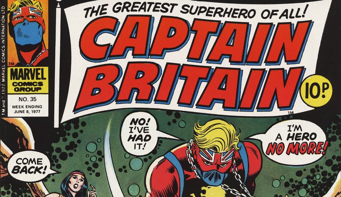 Herb Trimpe's Captain Britain Weekly cover, #27