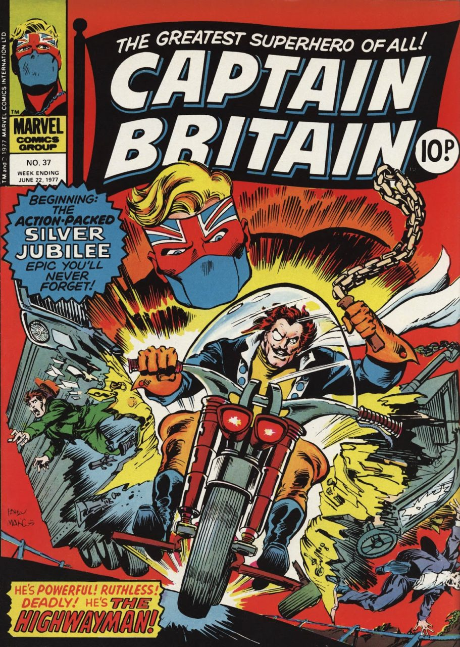 Captain Britain Weekly #37 cover
