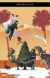 Cover to Runaways 16 by Kris Anka, Marvel Comics