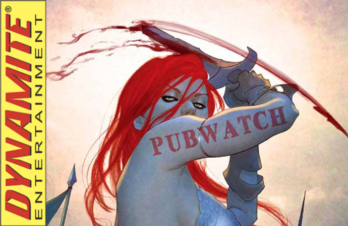 Dynamite Pubwatch Banner - Red Sonja by Jenny Frison (Dynamite Entertainment)