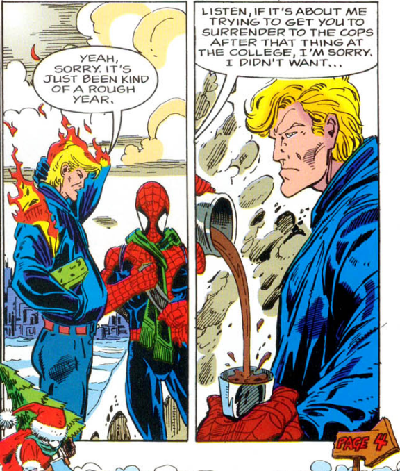Panel from Spider-Man Christmas Special 1995