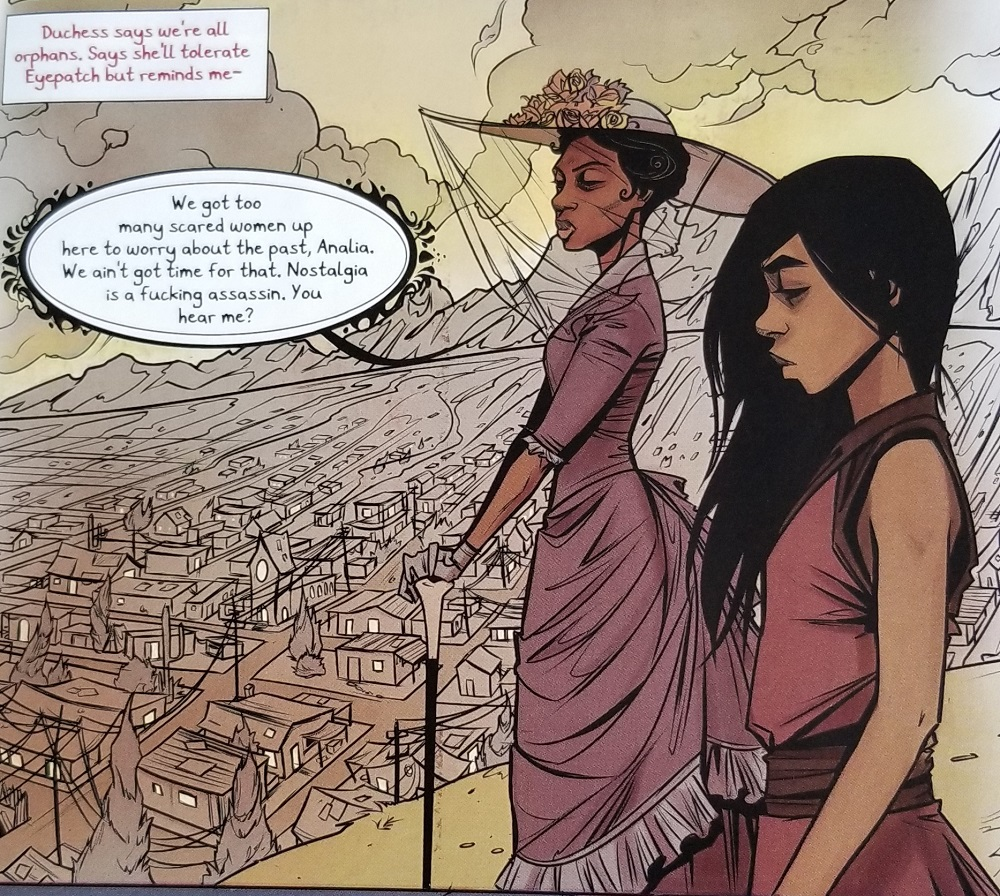 Panel from Coyotes, art by Caitlin Yarsky, published by Image Comics (2018)