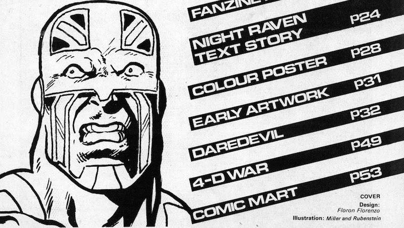 Captain Britain by Alan Davis, inside The Daredevils #6, Marvel UK 1983