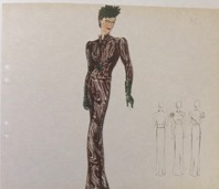 "Elsa Schiaparelli sketch. from the ""Pagan Collection"" 1938"