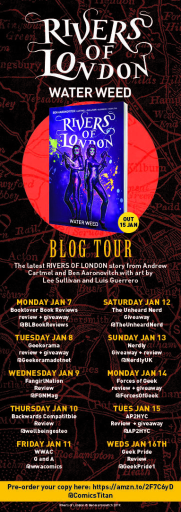 Rivers of London Water Weed Blog Tour - Titan Comics